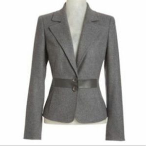 NEW WORTH New York Felted Wool Leather Blazer $598